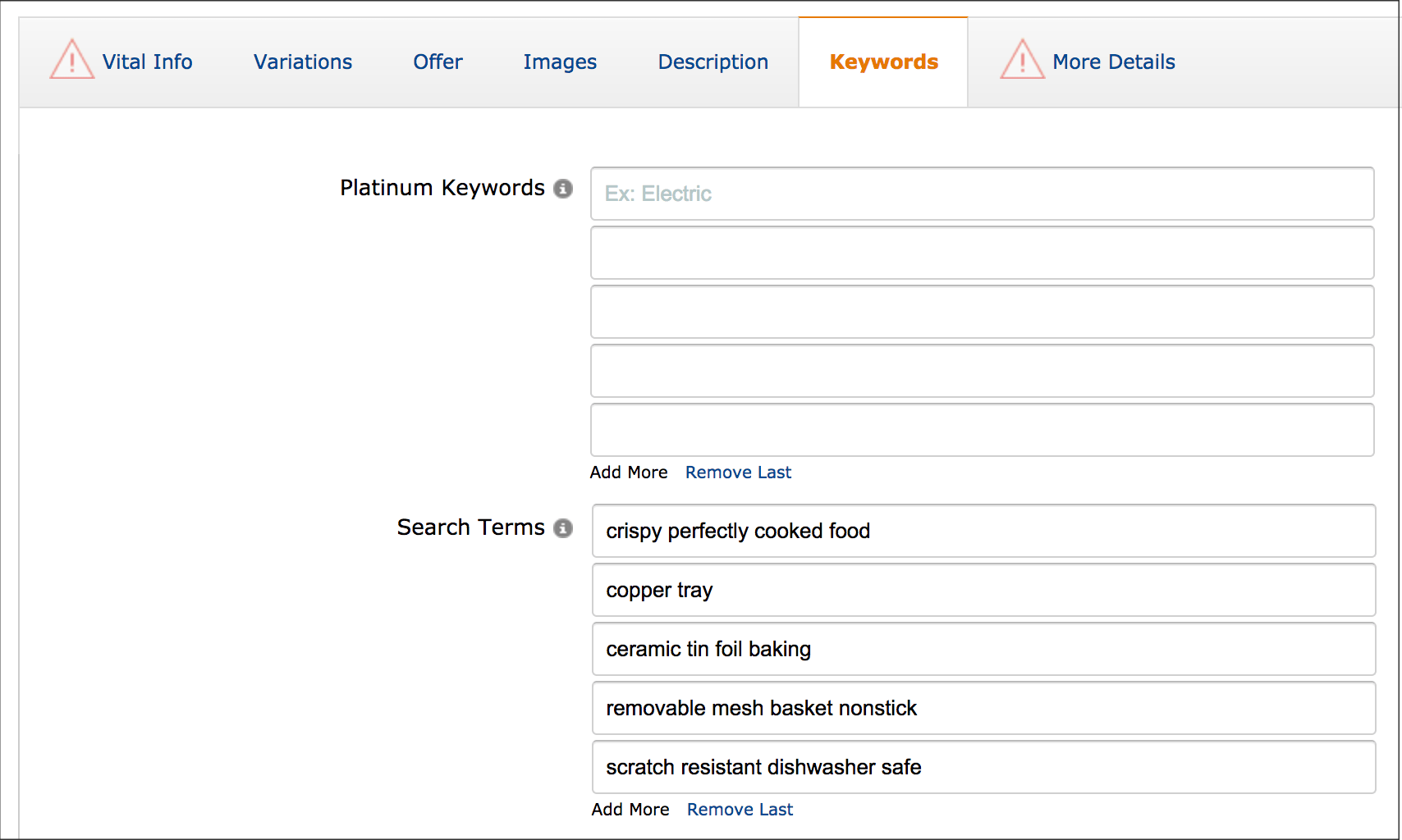 Amazon Backend Search Terms Best Exmples