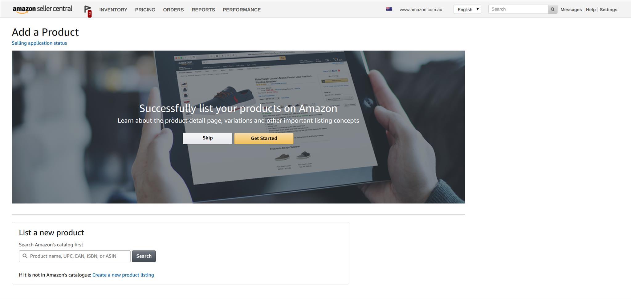 Amazon Seller Central Login Dashboard