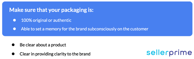 amazon prominent product packaging