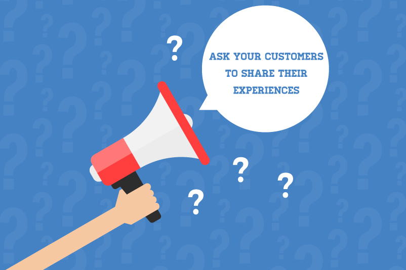 ask your customers to review your products