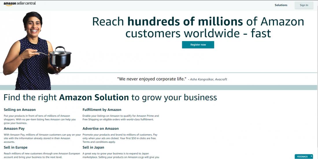 Amazon Seller Central Registration Signup Procedure