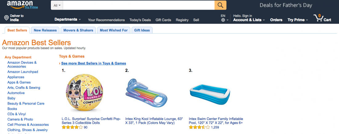 fb2e49490e Best Selling Products On Amazon 1000 Top Selling Items   10 Categories