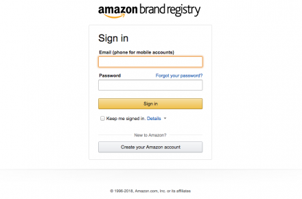 How to create amazon brand registry account
