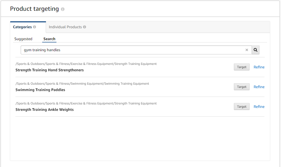 new features of amazon product targeting overview