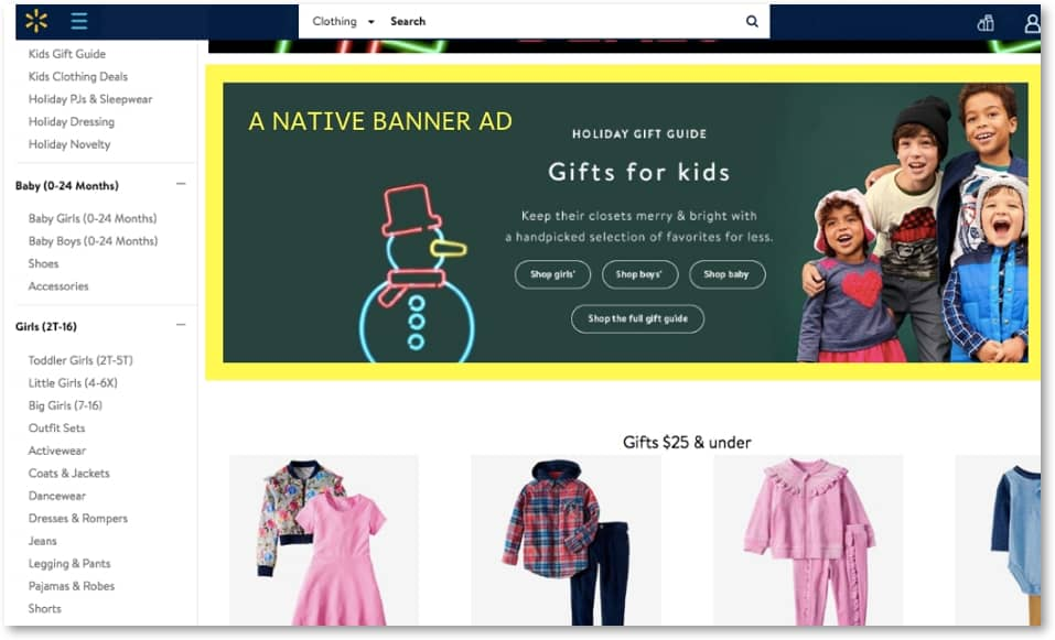 example of walmart spnsored ads