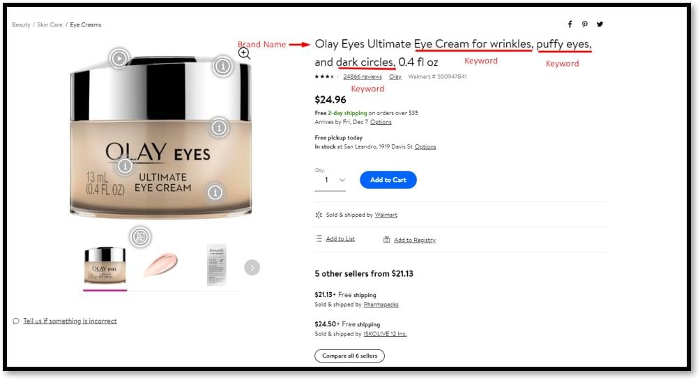 Walmart product title optimization