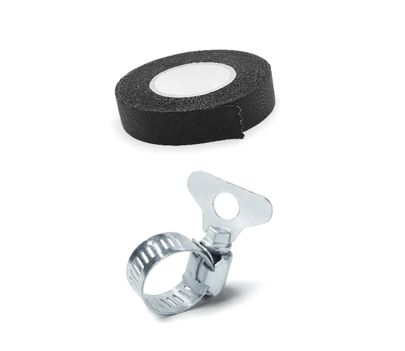 clamps and tape product photography