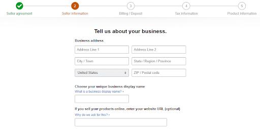 amazon seller registration