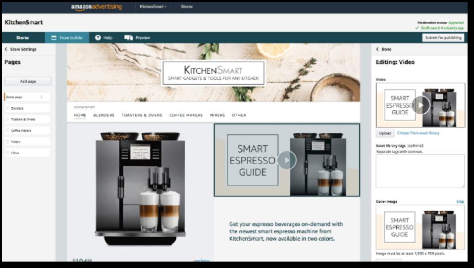 designing amazon store
