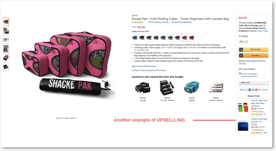 example of upselling