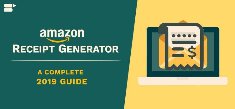 Amazon receipt generator