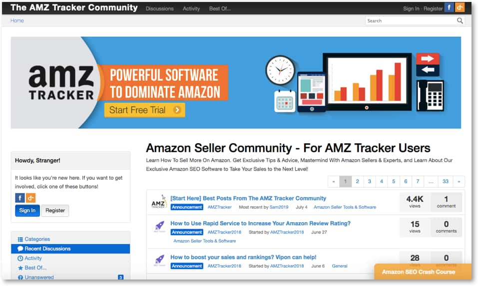 AMZ Tracker community