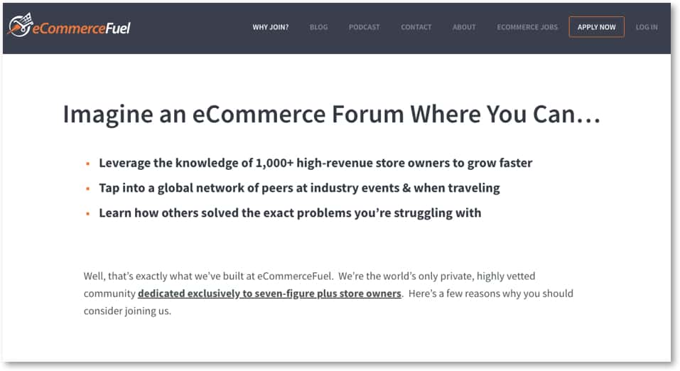 ecommerce fuel forum