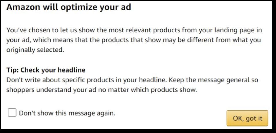 amazon automatic sponsored ad optimization