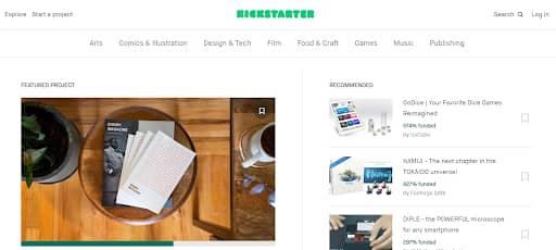 kickstarter product finder