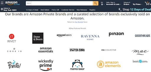 amazon list of private label manufacturer