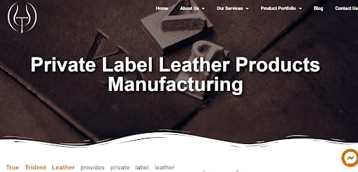 private label leather products manufacturing
