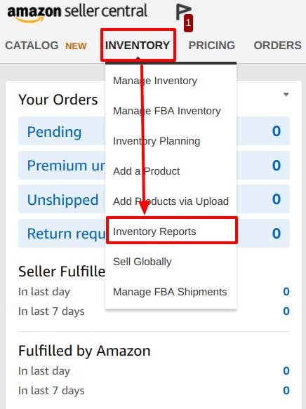 amazon inventory report