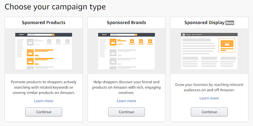 amazon sponsored campaign types