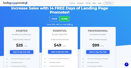 landing page promoter