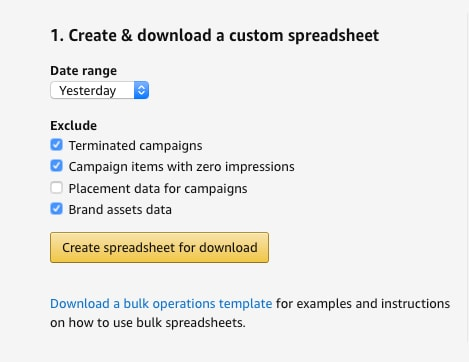 how to download custom spreadsheet