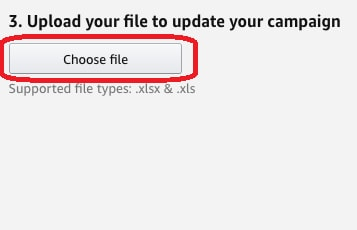 how to upload your file to update ppc campaign