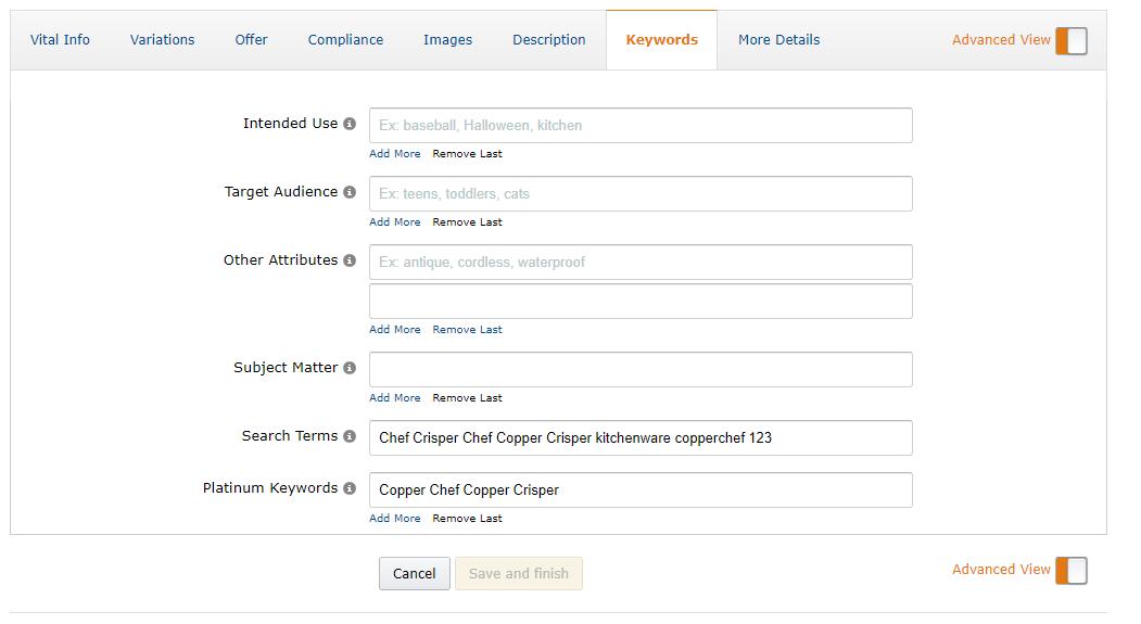 amazon backend keywords 1