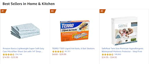 hot selling products on amazon