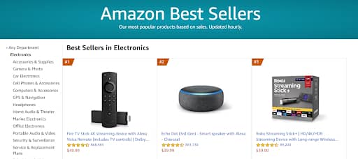 most sold items on amazon