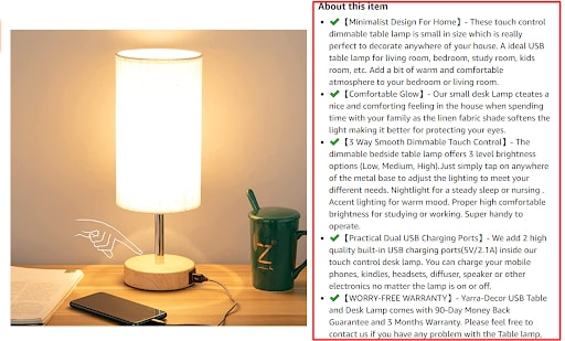 how to add bullet points on amazon listings