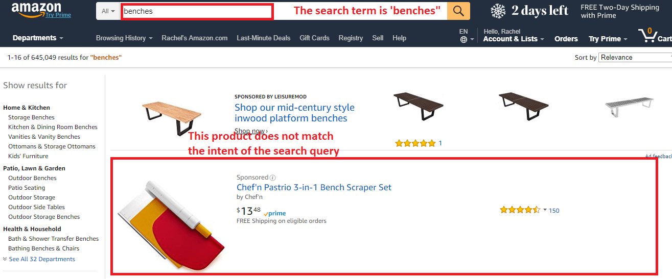 broad keyword match example amazon sellerprime ppc