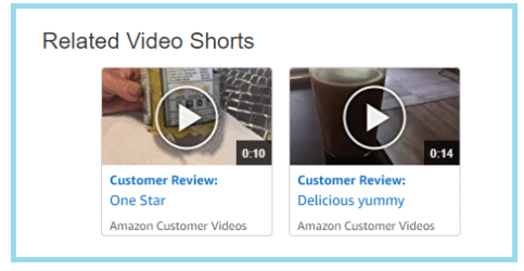 adding customer video reviews